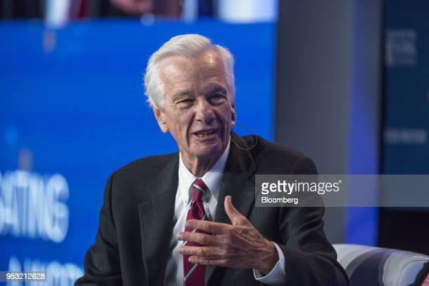 Jorge Paulo Lemann cofounder of 3G Capital Inc speaks during the Milken Institute Global Conference in Beverly Hills California US on Monday April 30...