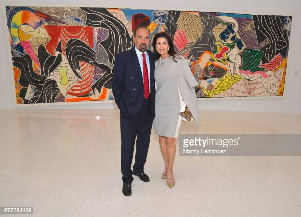 Jorge Perez and Darlene Perez at the Frank Stella Experiment and Change exhibit opening at the NSU Art Museum Fort Lauderdale on November 12 2017 in...