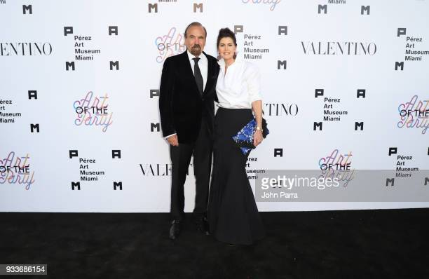 Jorge Perez and Darlene Perez attend PAMM Art Of The Party Presented By Valentino at Perez Art Museum Miami on March 17 2018 in Miami Florida