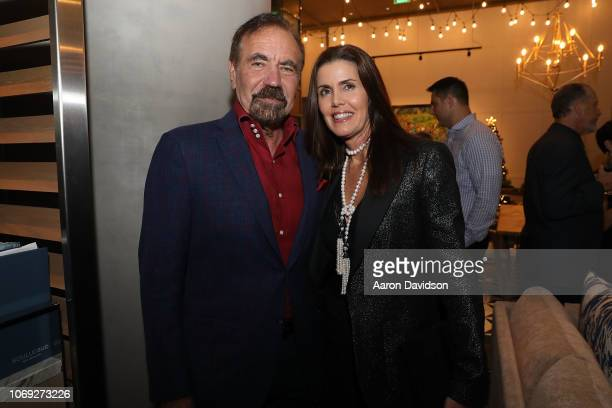 Jorge Perez and Darlene Perez attends Art Miami 2018 Lifetime Visionary Award Dinner Honoring Dennis Debra Scholl at Boulud Sud Miami on December 6...