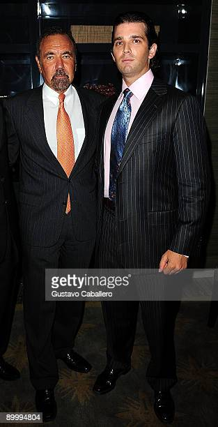 Jorge Perez and Donald Trump Jr pose at Trump Hollywood on August 21 2009 in Hollywood Florida