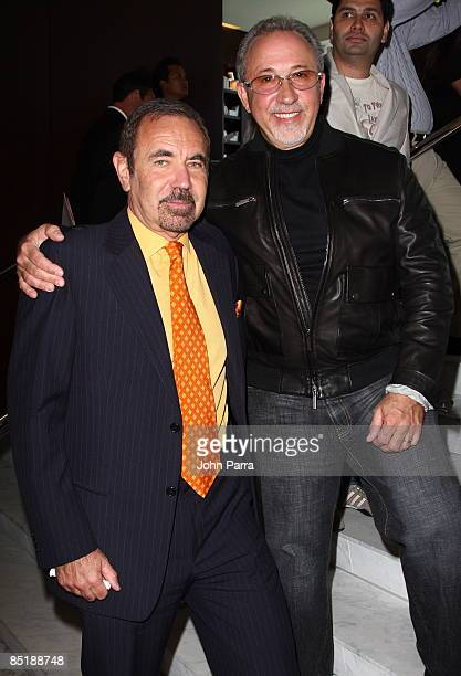 Jorge Perez and Emilio Estefan during a press conference at Viceroy Miami on March 2 2009 in Miami Florida