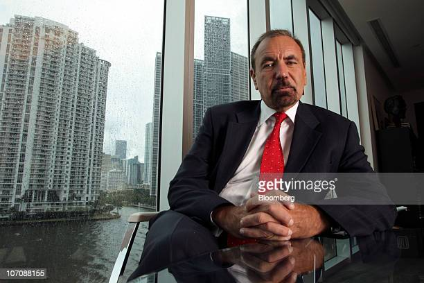 Jorge Perez chairman and chief executive officer of the Related Group of Florida sits for a photo in his office in Miami Florida US on Thursday Sept...