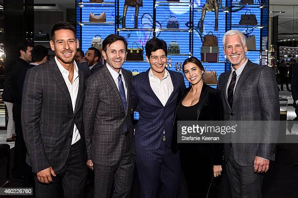 Jorge Perez Chip Sullivan Eliza Byard Laura Katzenberg and Kevin Brockman attend Gucci Hosts Private Cocktail Party To Benefit GLSEN at Gucci Los...