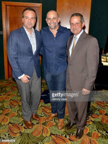 Jorge Plasencia Bill Teck and fomer Mayor of Miami Manny Diaz attend the Miami Premiere of RatPac Documentary Films One Day Since Yesterday Peter...