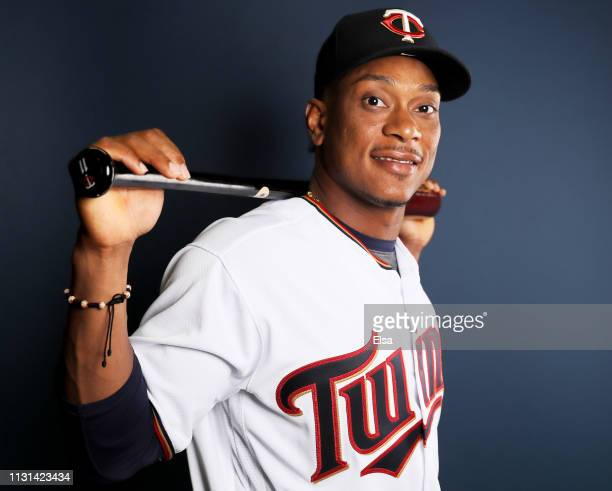 Jorge Polanco of the Minnesota Twins poses for a portrait during Minnesota Twins Photo Day on February 22 2019 at Hammond Stadium in Fort Myers...