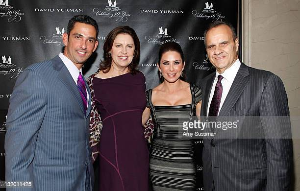 Jorge Posada Alice Wolterman Laura Posada and Joe Torre attend The Jorge Posada Foundation's Decade of Difference celebration on November 9 2011 in...