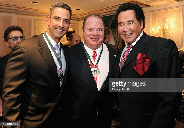 Jorge Posada Chip Ganassi and Wayne Newton attend the 30th Annual Great Sports Legends Dinner to benefit The Buoniconti Fund to Cure Paralysis at The...