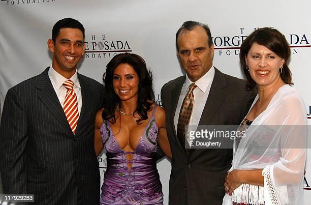Jorge Posada Laura Posada Joe Torre and Ali Torre