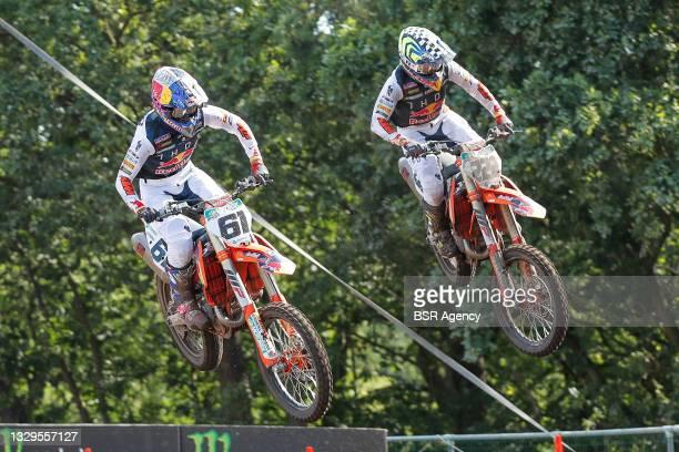 Jorge Prado ESP KTM Red Bull KTM Factory Racing, Antonio Cairolli ITA KTM Red Bull KTM Factory Racing van Berkel during the 2021 FIM MX2 Motocross...