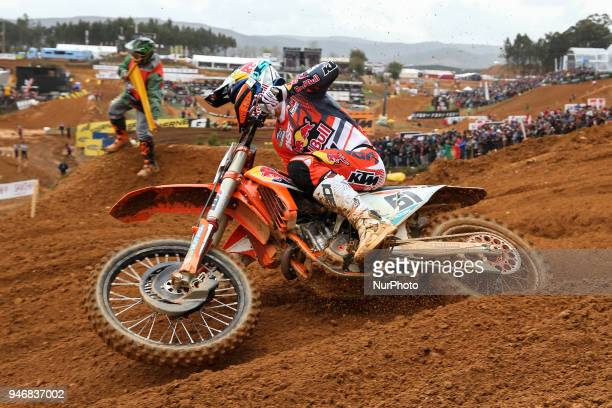 Jorge Prado in KTM of Red Bull KTM Factory Racing MX2 in action during the MXGP World Championship 2018 Race of Portugal on April 15 2018 in Agueda...