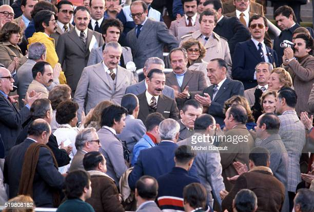 Jorge Rafael Videla President of Argentina during the World Cup match between Scotland and Netherlands on June 6 in Mendoza Argentina