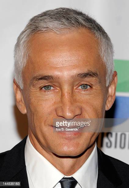 Jorge Ramos attends the Univision Upfront 2012 reception at Cipriani 42nd Street on May 15 2012 in New York City