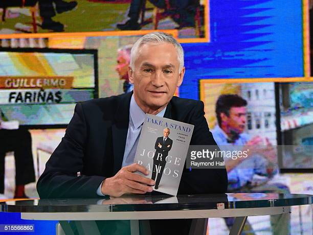 Jorge Ramos is seen on the set of Good Morning America on March 14 2016 in New York City