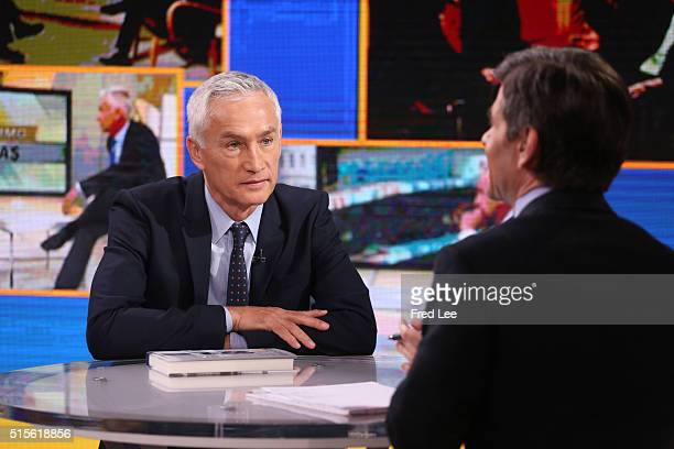 AMERICA Jorge Ramos of Univision is a guest on Good Morning America 3/11/16 airing on the Walt Disney Television via Getty Images Television Network...