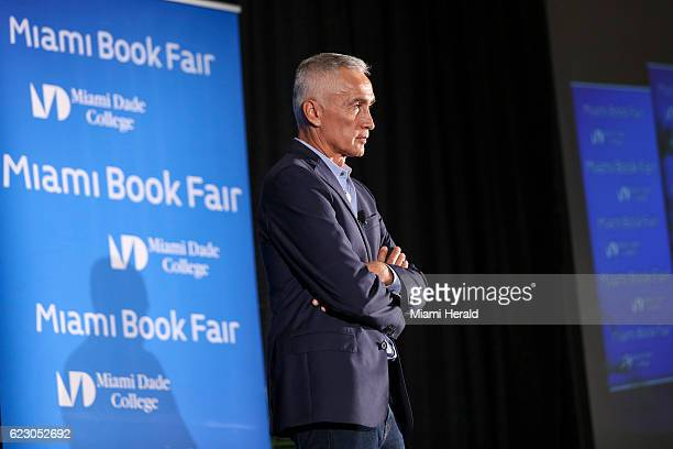 Jorge Ramos speaks on Sunday Nov 13 2016 during the Miami Book Fair at the Miami Dade College Wolfson Campus in downtown Miami Fla
