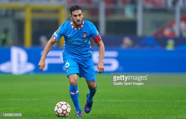 """Jorge Resureccion Merodio """"Koke"""" of Club Atletico de Madrid in action during the UEFA Champions League group B match between AC Milan and Atletico..."""