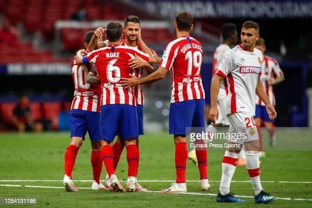 "Jorge Resurreccion ""Koke"" of Atletico Madrid celebrates a goal during the spanish league, LaLiga, football match played between Atletico de Madrid..."