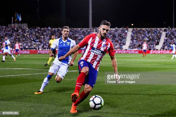 Jorge Resurreccion Merodio Koke of Atletico de Madrid in action during the La Liga 201718 match between CD Leganes and Atletico de Madrid on 30...