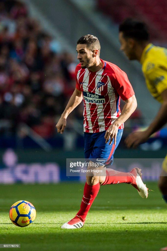 Jorge Resurreccion Merodio, Koke, of Atletico de Madrid in action during the La Liga 2017-18 match between Atletico de Madrid and UD Las Palmas at Wanda Metropolitano on January 28 2018 in Madrid, Spain.