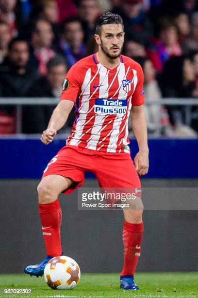 Jorge Resurreccion Merodio Koke of Atletico de Madrid in action during the UEFA Europa League quarter final leg one match between Atletico Madrid and...