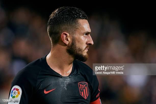 Jorge Resurreccion Merodio Koke of Atletico de Madrid looks on during the Liga match between Valencia CF and Club Atletico de Madrid at Estadio...