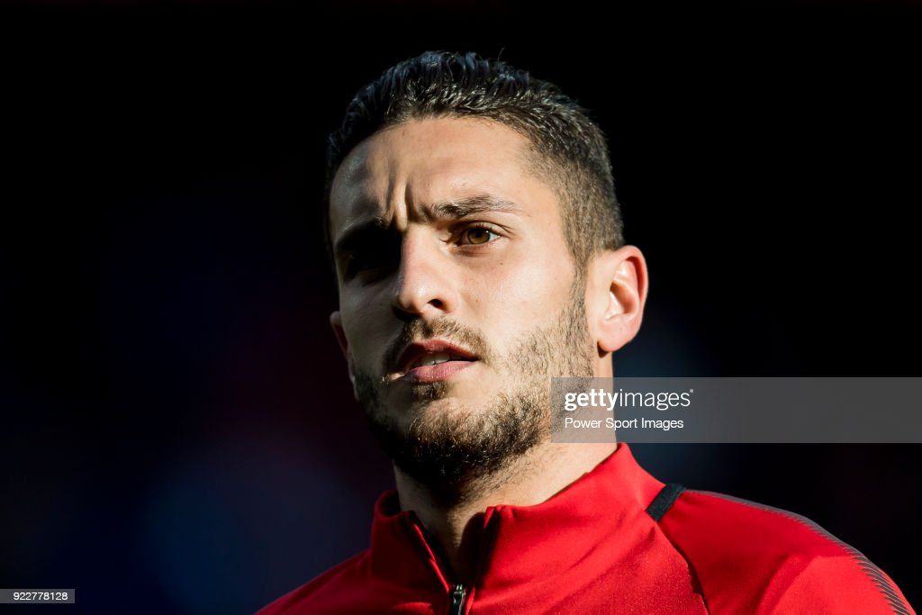 Jorge Resurreccion Merodio, Koke, of Atletico de Madrid prior to the La Liga 2017-18 match between Atletico de Madrid and UD Las Palmas at Wanda Metropolitano on January 28 2018 in Madrid, Spain.