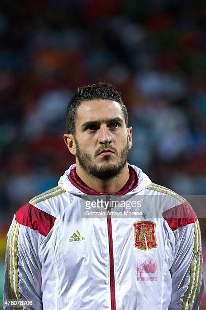 Jorge Resurrecion alias Koke of Spain stands prior to start the international friendly match between Spain and Costa Rica at Reino de Leon Stadium on...