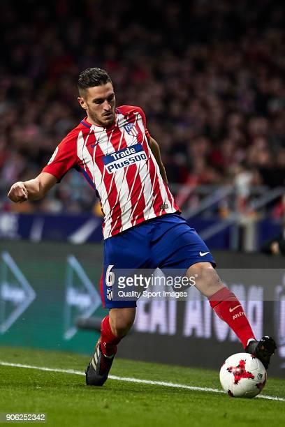 Jorge Resurrecion 'Koke' of Atletico de Madrid in action during the Copa del Rey Round of 8 first Leg match between Atletico de Madrid and Sevilla FC...