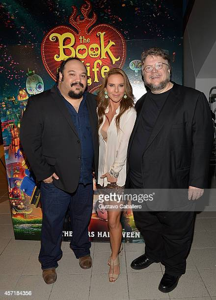 Jorge RGutierrezKate del Castillo and Guillermo del Toroattends 'THE BOOK OF LIFE' Red Carpet at Regal South Beach 18 on October 13 2014 in Miami...