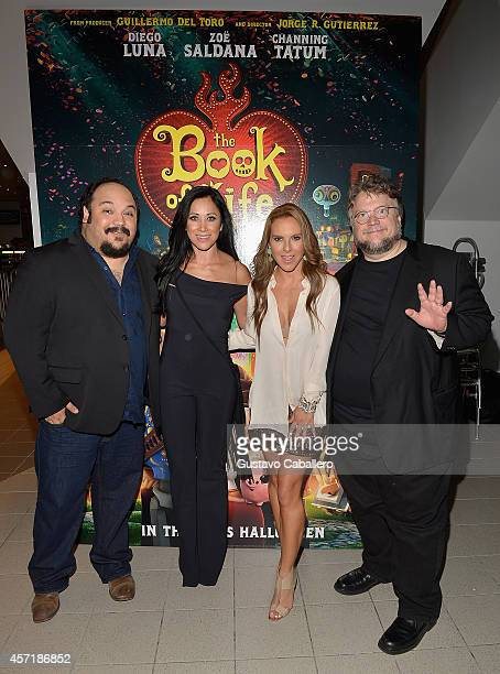 Jorge RGutierrezMonica NogueraKate del Castillo and Guillermo del Toro attends 'THE BOOK OF LIFE' Red Carpet at Regal South Beach 18 on October 13...