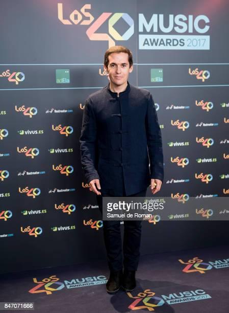 Jorge Ruiz attends 40 Principales Awards candidates dinner 2017 on September 14 2017 in Madrid Spain
