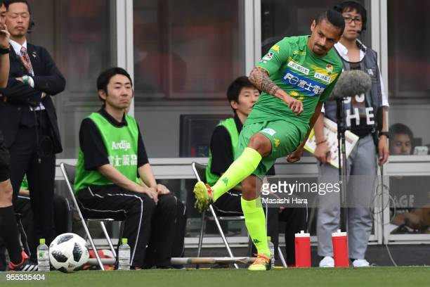 Jorge Salinas of JEF United Chiba in action during the JLeague J2 match between Omiya Ardija and JEF United Chiba at Nack 5 Stadium Omiya on May 6...