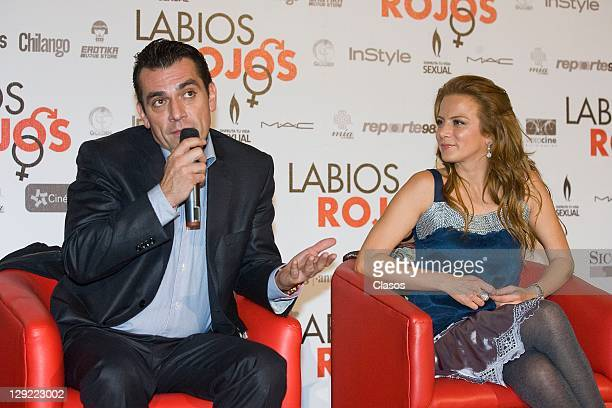 Jorge Salinas Silvia Navarro during the press conference to present the movie Labios Rojos in Cinepolis Plaza Universidad on 04 october 2011 in...