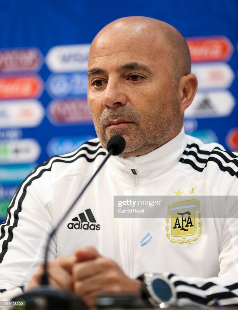 Jorge Sampaoli Press Conference - FIFA World Cup Russia 2018