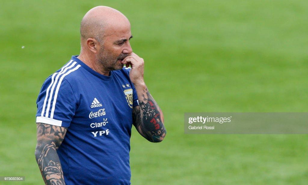 Argentina Training Session : ニュース写真