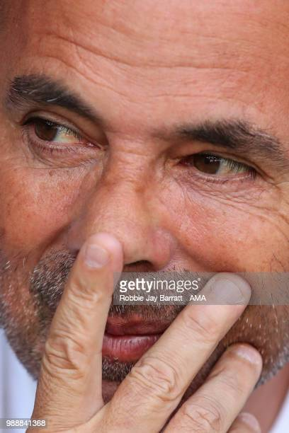 Jorge Sampaoli head coach / manager of Argentina during the 2018 FIFA World Cup Russia Round of 16 match between France and Argentina at Kazan Arena...