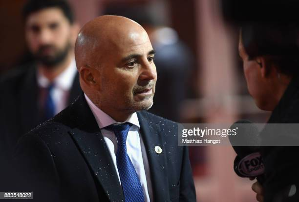 Jorge Sampaoli Manager of Argentina arrives for the Final Draw for the 2018 FIFA World Cup Russia at the State Kremlin Palace on December 1 2017 in...