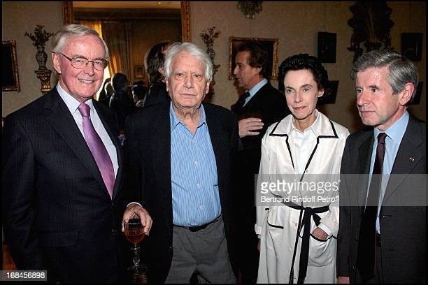 Jorge Samprun Alain Minc and his wife at Princess Lee Radziwill Awarded Knight in the National Order of the Legion of Honor