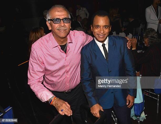 Jorge Santana and Jon Secada at Latin Songwriters Hall Of Fame La Musa Awards Miami Beach FL on October 13 2016