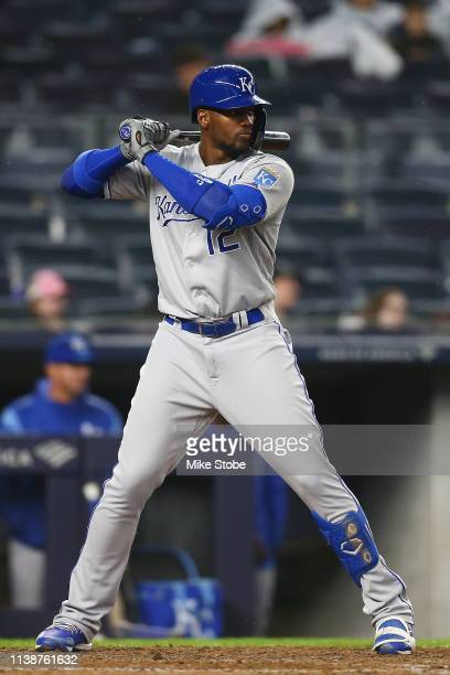 Jorge Soler of the Kansas City Royals in action the New York Yankees at Yankee Stadium on April 19, 2019 in New York City. New York Yankees defeated...
