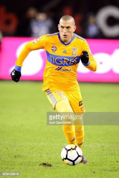 Jorge Torres Nilo of Tigres UANL runs with the ball during the CONCACAF Champions League Quarterfinal match between Toronto FC and Tigres UANL on...
