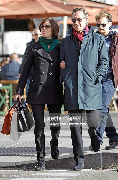 Jorge Valdano and his wife Martha Saenz de Ugarte are seen on January 2 2015 in Madrid Spain