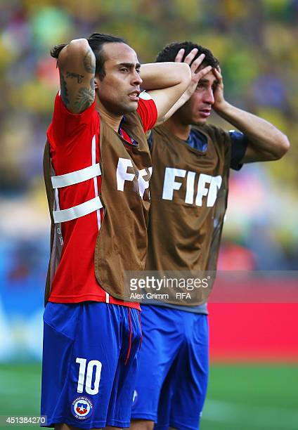 Jorge Valdivia of Chile looks on during the 2014 FIFA World Cup Brazil Round of 16 match between Brazil and Chile at Estadio Mineirao on June 28 2014...