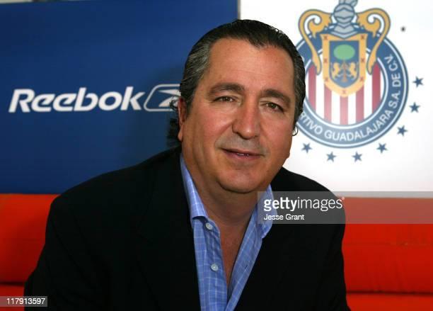 Jorge Vergara owner of Sports Club Guadalajara during Reebok Scores Soccer's Prestigious Sport Club Guadalajara at The Standard Hotel Downtown LA in...