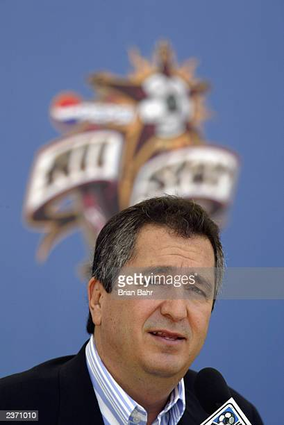 Jorge Vergara owner of the Guadalajara Chivas acknowledges a possible partnership with MLS a day before the MLS AllStar Game at the Home Depot Center...