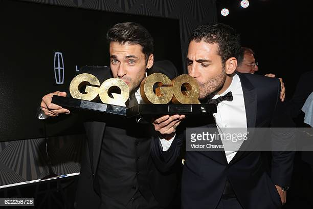 Jorge Viladoms and Miguel Angel Silvestre attend the GQ Men Of The Year Awards 2016 at Torre Virrelles on November 9, 2016 in Mexico City, Mexico.