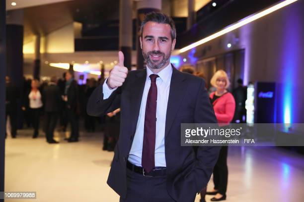Jorge Vilda coach of Spain arrives for the FIFA Women's World Cup France 2019 Draw at La Seine Musicale on December 8 2018 in Paris France