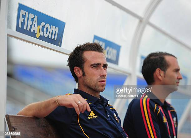 Jorge Vilda coach of Spain before the FIFA U17 Women's World Cup Group C match between Spain and Japan at the Ato Boldon Stadium on September 6 2010...