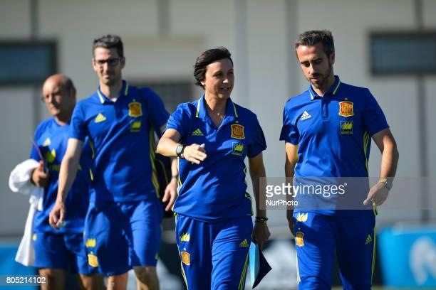 Jorge Vilda during a friendly match between the national women's teams of Spain vs Belgium in Pinatar Arena Murcia Spain Friday June 30 2017